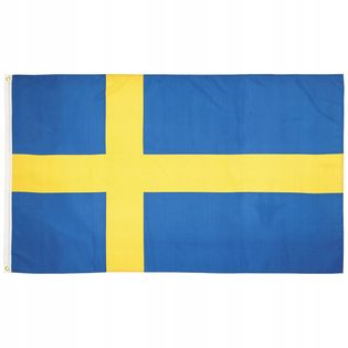 Flaga na maszt 90 x 150 cm Szwecja