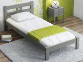 Łóżko 90x200 Szare Drewniane Wysokie Producent F3 Magnat