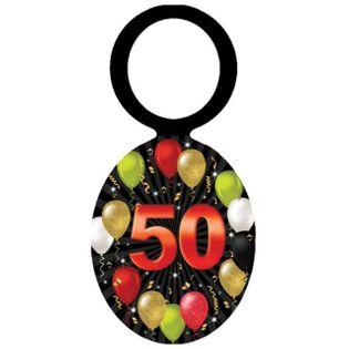 """Zawieszki na alkohol """"Urodziny 50 Black Balloons"""", 20 szt"""