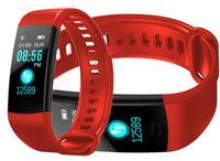 SMARTBAND Y5 Smart Opaska Sportowa mierzy puls Krokomierz RED