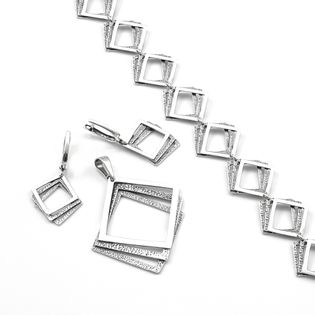 Komplet srebrny oksydowany