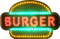 Reklama BURGER migająca tablica otwarte open