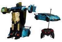 Transformer auto robot sterowany pilotem / ręką USB NIEBIESKI Z181N