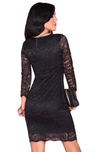 Koronkowa Sukienka przed kolano czarna bardzo seksowna M zdjęcie 2