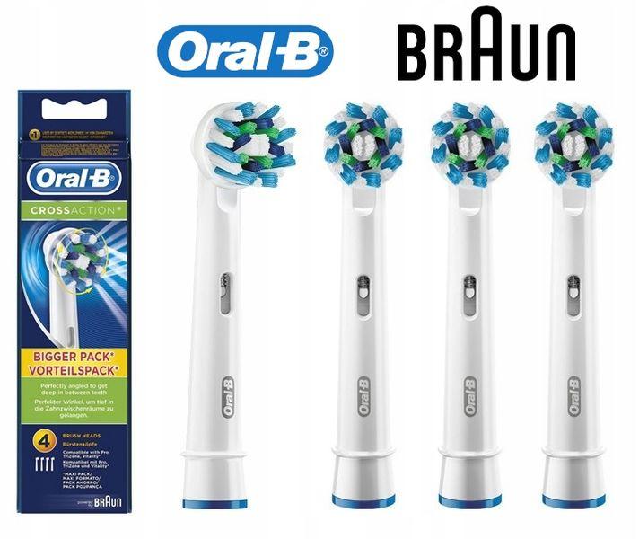 Oryginalne końcówki ORAL-B Braun EB50-4 CROSS ACTION - 4 sztuki zdjęcie 4