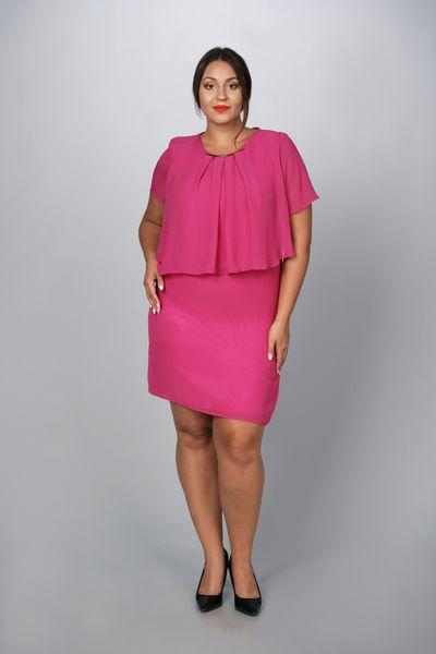e2e74519d0a9e5 Sukienka MADAM zwiewna szyfon amarant 44,46,48,50,52,54 • Arena.pl
