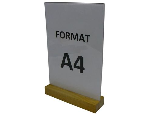 Stojak z plexi na ulotkę menu format A4 T pion na Arena.pl