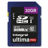 Integral UltimaPro - Karta pamięci 32GB SDHC 80MB/s Class 10 UHS-I U1