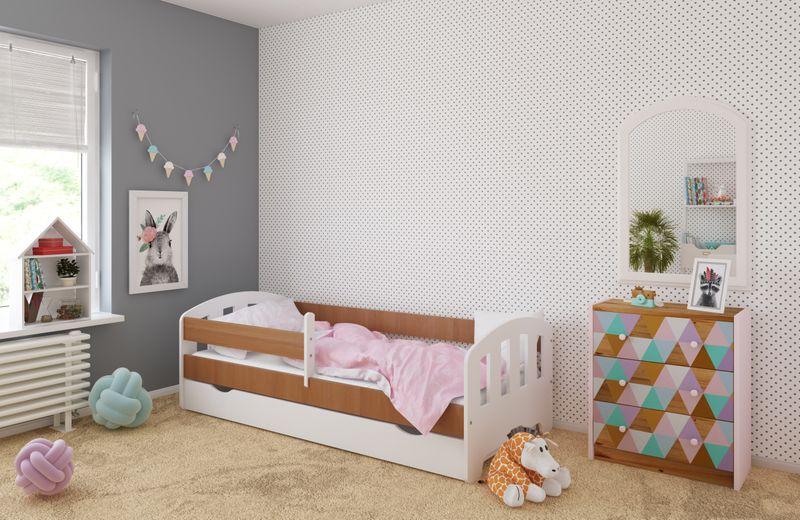 Łóżko FIFI 140x80 + szuflada + barierka zabezpieczająca + MATERAC zdjęcie 8