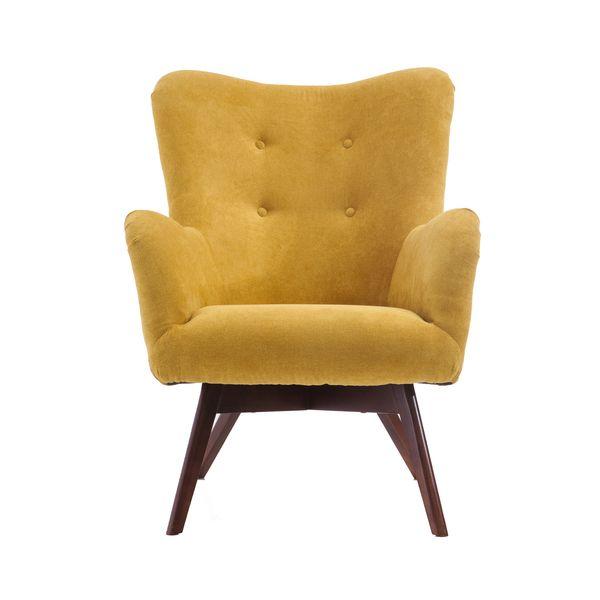 Fotel uszak mały styl skandynawski podnóżek gratis zdjęcie 9