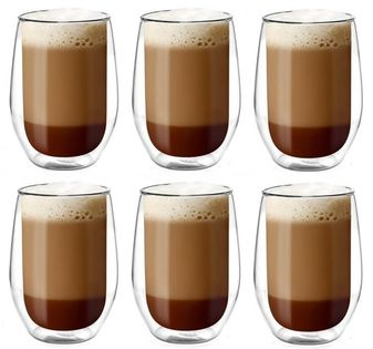 Szklanki Termiczne do Kawy Latte Herbaty 400ml Vialli Design 6 sztuk