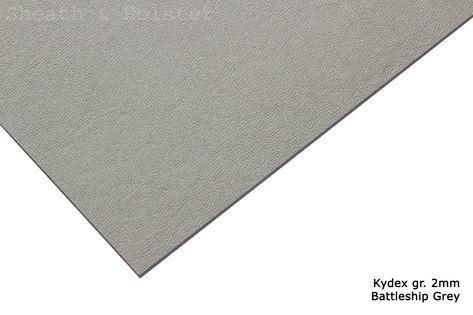 Kydex Battleship Gray - 150x200mm gr. 2mm