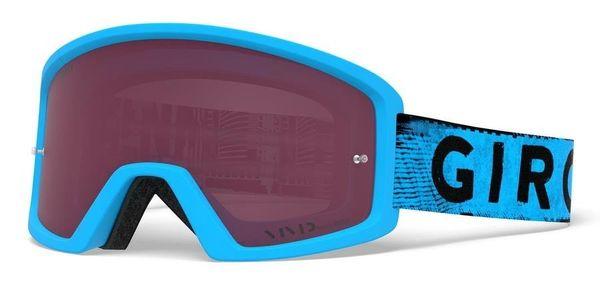 Gogle GIRO BLOK MTB blue hypnotic (Szyba Niebieka Lutrzana VIVID-Carl Zeiss TRAIL + Szyba Przeźroczysta 99% S0)