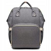 Plecak dla mamy damski szary elegancki vintage designerski KN61