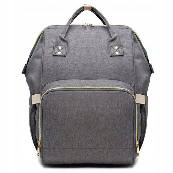 8f3383c3241d2 Plecak dla mamy damski szary elegancki vintage designerski KN61 zdjęcie 1