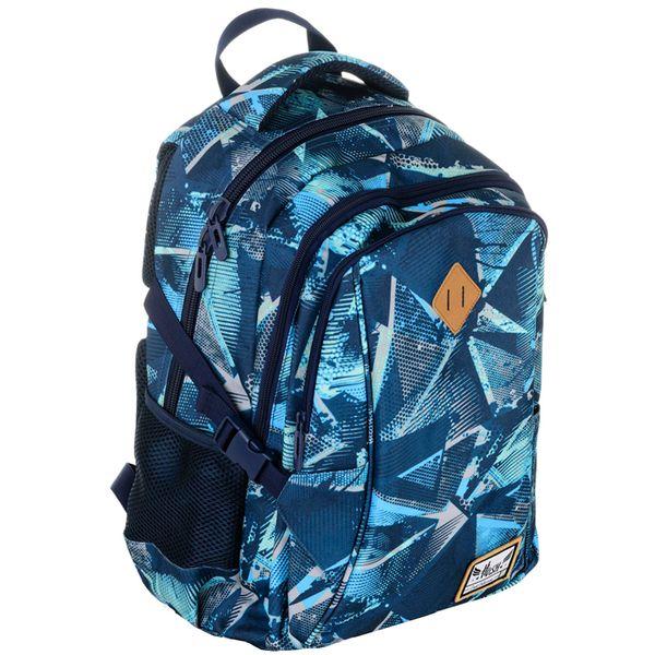Plecak szkolny młodzieżowy Astra Hash HS-17, niebieskie trójkąty zdjęcie 1
