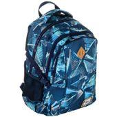 Plecak szkolny młodzieżowy Astra Hash HS-17, niebieskie trójkąty