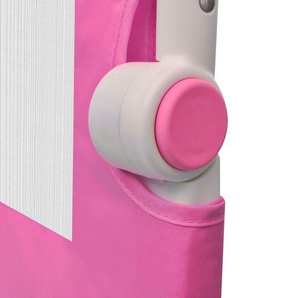 Barierka ochronna do łóżeczka 102 x 42 cm różowa zdjęcie 5