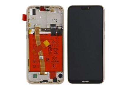 100% Oryg Nowy Przód z LCD i baterią P20 Lite złoty