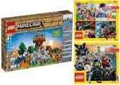 LEGO MINECRAFT 21135 KREATYWNY WARSZTAT + 2 KATALOGI LEGO