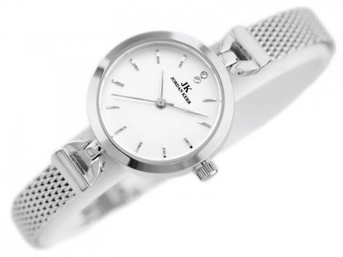 Srebrny zegarek damski bransoleta jordan kerr - pt zdjęcie 4