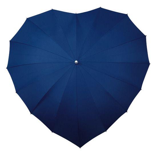 Parasolka w kształcie serca w kolorze granatowym zdjęcie 1