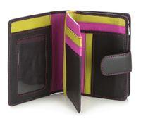 Czarny z kolorowym środkiem portfel damski VIP Collection: Multikolor