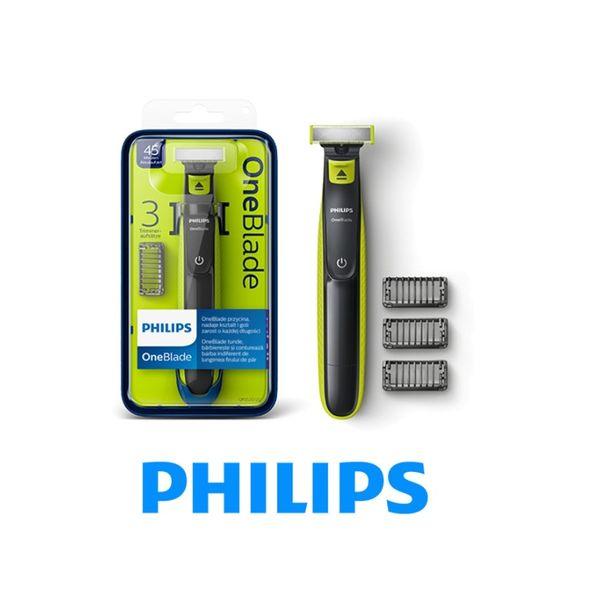 Philips OneBlade golarka QP2520/20 3 NASADKI + 3 nasadki  PROMOCJA 30% zdjęcie 1