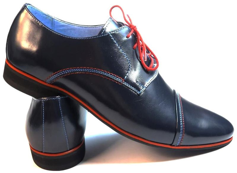 913dc40caa5cc Granatowe buty wizytowe z czerwonymi wstawkami T36 Rozmiar Obuwia - 39  zdjęcie 4