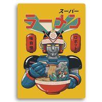 Wydruk na metalu, Jedzący robot anime 30x40