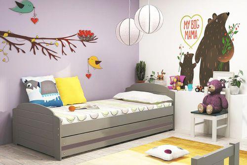 Łóżko dla dzieci LILI 200x90 dziecięce parterowe + STELAŻ + MATERAC na Arena.pl