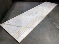 Marmurowe schody, stopnica półmatowa 120x30 ryfle