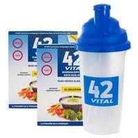 42 Vital Niskokaloryczna dieta roślinna waniliowy smak - 1 kg + shaker