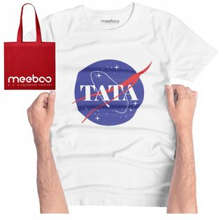 MĘSKA KOSZULKA TATA NASA GRATIS TORBA DZIEŃ OJCA