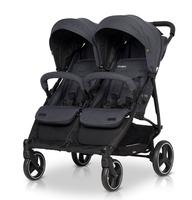 EasyGo Domino wózek dla bliźniąt spacerowy bliźniaczy COAL model 2020