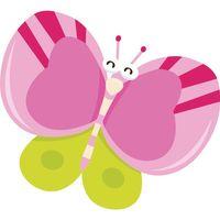Motyl z okrągłymi skrzydłami 10 x 10 cm naklejka ścienna dziecka