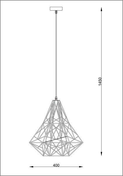 Lampa wisząca SKELETON HP1335-BL czarna Zuma Line zdjęcie 3
