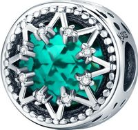 Charms Srebro - Zielony Kryształ