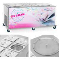 Maszyna do lodów tajskich - 2 x 50 cm 6 x GN Royal Catering RCFI-2O-6