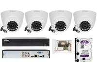 Monitoring Dahua na 4 kamery z szerokim kątem widzenia 2.8mm 2 MPIX