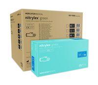 Rękawice nitrylowe nitrylex green M karton 10 x 100 szt
