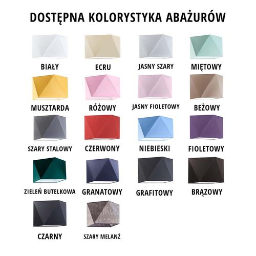 Lampka nocna WUHU abażur diament na Arena.pl