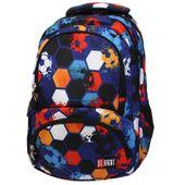 Dwukomorowy plecak szkolny St.Right 24 L, Football BP7