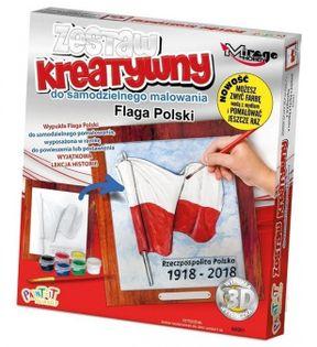 POLSKA - Wypukła Malowanka Seria POLSKA - FLAGA POLSKI