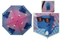 Parasolka dziecięca duża, automatyczna dinozaur w okularach
