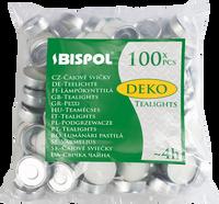 Podgrzewacze bezzapachowe tealight BISPOL 4H DEKO 100szt.