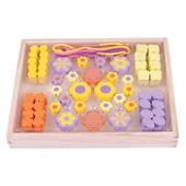 Zestaw koralików do robienia biżuterii dla dzieci (Kwiatki)