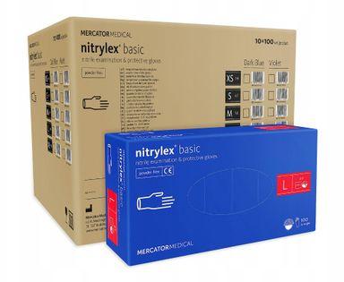 Rękawice nitrylowe nitrylex basic L karton 10 x 100 szt