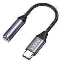 Adapter Słuchawkowy USB Typ C na mini jack 3,5mm Przejściówka KAKU 2in1 USB-C (KSC-428) czarny