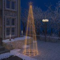 VidaXL Ozdoba świąteczna w kształcie choinki, 400 LED, ciepły biały